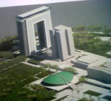 Maket Rencana Gedung Baru DPR