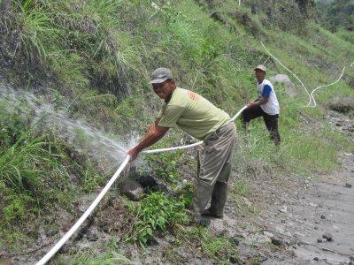 Ilustrasi jaringan pipa air bersih di Kali Apu (Dok. SOLOPOS)