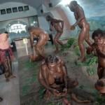Pengunjung mengamati diorama yang menunjukkan aktivitas manusia prasejarah di Museum Sangiran. (JIBI/Solopos/Dok)