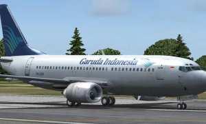 Ilustrasi pesawat terbang milik maskapai Garuda Indonesia. (JIBI/Solopos/Dok.)