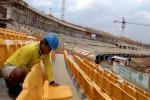 Pembangunan Stadion Gede Bage Bandung. (Dok/JIBI/Bisnis)