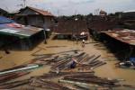 Ilustrasi banjir di Kampung Sewu, Solo pada 2012 (JIBI/Solopos/Dok)