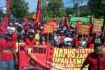 Ilustrasi demo buruh Klaten (Dok/JBI/Solopos)