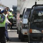 RAZIA LALU LINTAS : Polres Bantul Razia Truk Bandel yang Beroperasi di Jalan Parangtritis