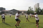Pemain Persis Solo berlatih di lapangan Kota Barat. (Sunaryo Haryo Bayu/JIBI/Solopos)