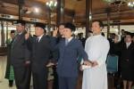MUTASI PNS--Sebanyak 35 pejabat dan PNS dilantik di Pendapa Pemkab Boyolali, Sabtu (16/6/2012). Mutasi ini kembali dilakukan menyusul banyaknya PNS yang pensiun. (Farida Trisnaningtyas/JIBI/SOLOPOS)
