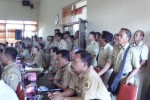 REVISI PERDA: Ratusan Perangkat Desa Geruduk DPRD Wonogiri