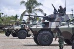 PANSER TNI Terbalik di Timika, Satu Tewas