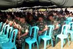 JAGA PERBATASAN: 650 Prajurit Yonif 408/Sbh Pamitan dengan Forpimda