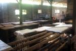 Seorang pekerja sedang membuat tahu di pabrik pembuatan tahu milik Pamardi, 57, warga Desa Bendan, Banyudono, Boyolali. Sejumlah pengrajin tahu mengeluhkan kenaikan harga kedelai yang saat ini mencapai Rp8000/kg.(JIBI/SOLOPOS/Catur Andrianto)