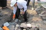 BATU PERTAMA: Pembangunan Gedung Pusdiklat UNS Dimulai