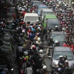 Lalu lintas di kawasan Pasar Beringharjo di jalan Pabringan, Jogja, Minggu (12/8/2012). (JIBI/Harian Jogja/Dok)