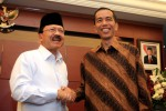 Pertemuan Jokowi-Foke dalam rangka pembahasan keamanan pemilihan umum kepala daerah (Pemilukada) DKI Jakarta, di Mapolda DKI Jakarta, Senin (10/9/2012). (Foto: Dhony Setiawan/JIBI/Antara)