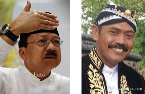 Fauzi Bowo (baju putih) dan Hadi Rudyatmo (mengenakan beskap) (Foto:@andymse/Twitter)