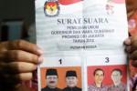Contoh kertas surat suara untuk pilkada putaran kedua (Antara)