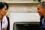 Suu Kyi Terima Medali Emas Kongres AS dan Bertemu Obama