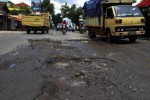 HMI SUKOHARJO Tuntuk Perbaikan Jalan Rusak