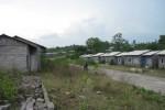 Suasana kompleks Griya Lawu Asri (GLA) di Desa Jeruksawit, Kecamatan Gondangrejo, Karanganyar yang kini mangkrak. Proyek pembangunan rumah di lokasi itu mandek setelah mencuatnya kasus dugaan korupsi GLA. (Indah Septiyaning W/JIBI/Solopos)