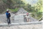 Proyek jembatan Taring, Cepogo (Septhia Ryanthie/JIBI/SOLOPOS)