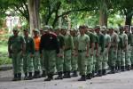 KEAMANAN SOLO : Anggota Linmas Diperkuat Pasukan Barisan Motor