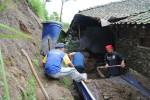 Tanah longsor di Wonodoyo, Cepogo, Boyolali, Kamis (13/12/2012). (Septhia Ryanthie/JIBI/SOLOPOS)