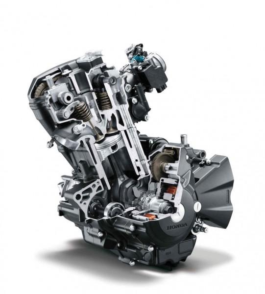 Mesin DOHC satu silinder produksi Honda. (skspark.com)