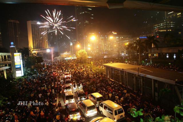 Ilustrasi keramaian malam Tahun Baru. (JIBI/Solopos/Dok)