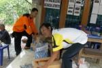 PUTING BELIUNG: Warga Jatiroto Bangun Posko Bencana Darurat