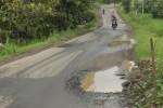 Jalan rusak di Kecamatan Nogosari, Boyolali, Senin (7/1/2013). (Oriza Vilosa/JIBI/SOLOPOS)