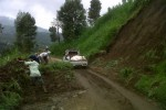 Longsor di Dukuh Tritis, Desa Lencoh, Selo, Boyolali, Minggu (6/1/2013). (Oriza/JIBI/SOLOPOS)
