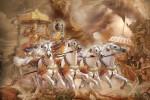 Gambar Arjuna lan Kresta ing madyaning baratayuda asumber Baghavad Gita. Ing Baghavad Gita ana wulangan bab sepi ing pamrih rame ing gawe kang tansah diwarisake para pandhita utawa begawan marang para satriya.