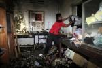 KEBAKARAN RUMAH: Sudah Kali Ketiga Terjadi, Rumah Usaha Konveksi Terbakar