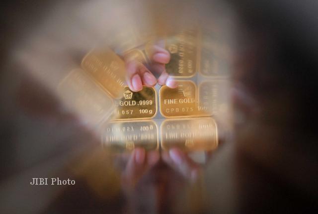 Ilustrasi emas (Nurul Hidayat/JIBi/Bisnis Indonesia)
