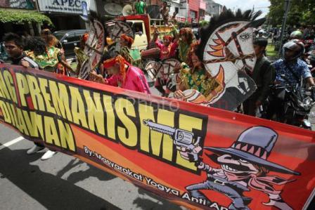 Foto Demonstrasi Tolak Premanisme JIBI/Harian Jogja/Desi Suryanto