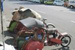 Beberapa becak bertenaga motor atau bentor parkir di depan Pasar Bunder, Sragen. Para pengemudi bentor mengeluhkan rencana pemerintah setempat yang dinilai menyudutkan mereka dengan penertiban dan pembatasan rute. (JIBI/SOLOPOS/Sri Sumi Handayani)
