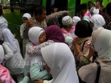 Ilustrasi pemberangkatan calon jemaah haji (Dok/JIBI/SOLOPOS)