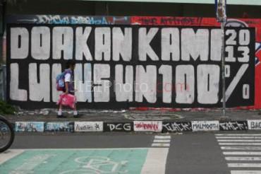 Foto Ilustrasi Mural UN JIBI/Harian Jogja/Desi Suryanto