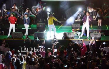 Coboy Junior saat sedang berada di atas panggung CJR Generation 2013. dokJIBI/SOLOPOS