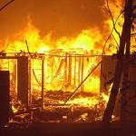 KEBAKARAN SRAGEN : Rumah Warga Mondokan Ludes Terbakar saat Ditinggal ke Sawah