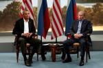 Obama dan Putin bertemu dalam Pertemuan G8 di Irlandia Utara, Senin (16/6/2013). (JIBI/Reuters)