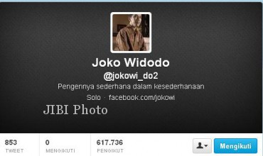 Tampilan Akun Twitter Joko Widodo (twitter.com)