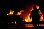 KEBAKARAN SRAGEN : Gara-gara Puntung Rokok, Bengkel Motor Terbakar