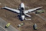 Pesawat Asiana Airlines Boeing 777 mengalami kecelakaan saat mendarat di Bandara Internasional San Francisco, Sabtu (6/7/2013) waktu setempat. (JIBI/Reuters)