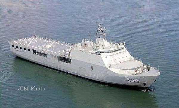 KRI Banda Aceh, kapal perang jenis landing platform dock (LPD) milik TNI AL yang dibuat oleh PT PAL Indonesia di Surabaya. PT PAL menjadi pemenang tender pengadaan kapal sejenis dari Kementerian Pertahanan Nasional Filipina untuk kebutuhan AL Filipina. (JIBI/SOLOPOS/dok)