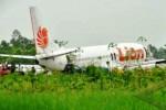 PESAWAT LION AIR TERGELINCIR : Lion Air Tergelincir di Bandara Juanda, 215 Penumpang Selamat