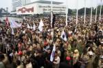 Foto ilustrasi demonstrasi perangkat desa di Gedung MPR DPR (JIBI/Harian Jogja/Bisnis Indonesia)