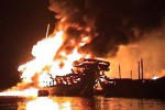 KAPAL TERBAKAR : 6 Kapal Diamuk Api, Tak Ada Korban Jiwa
