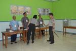 Kapolda Jateng Irjen Pol Dwi Priyatno meninjau kesiapan TPS pada Pilkada Karanganyar (Bony Eko Wicaksono/JIBI/Solopos)