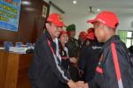Bupati Wonogiri Danar Rahmanto melepas kontingen Porprov 2013 (Trianto Hery Suryono/JIBI/Solopos)