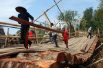 BENCANA BOYOLALI : Diterjang Banjir, Jembatan Darurat Jerukan Ambrol